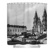 Santiago De Compostela Cathedral Galicia Spain Shower Curtain