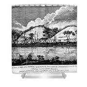 Saratoga: Encampment, 1777 Shower Curtain