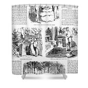 Saratoga Springs, 1859 Shower Curtain