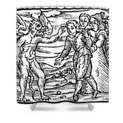 Satan & Sorcerer, 1626 Shower Curtain