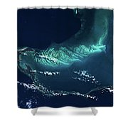 Satellite View Of Turks And Caicos Shower Curtain