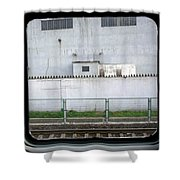 Scene From A Train In Chinas Southern Shower Curtain