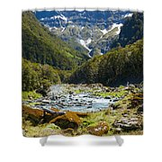 Scenic Valley In New Zealand Shower Curtain