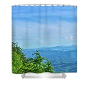 Scenic View Of Mountain Range Shower Curtain