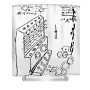 Schickard Calculator Shower Curtain