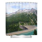 Schlegeis Dam And Reservoir  Shower Curtain