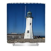 Scituate Lighthouse Shower Curtain