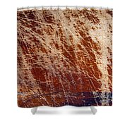 Scratched Wood Texture Shower Curtain