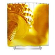 Screw Shower Curtain by Michal Bednarek
