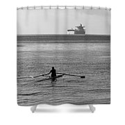 Sculling On The Bay Shower Curtain