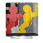 Sculptures On State Street Shower Curtain