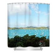 Sea Of Sailboats Shower Curtain