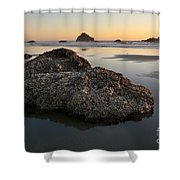 Sea Stacks At Sunset Shower Curtain