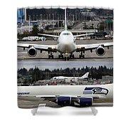 Seahawks 747 Shower Curtain