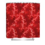 Seamless Fractal Red Shower Curtain