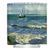 Seascape Near Les Saintes-maries-de-la-mer Shower Curtain