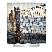 Seaside Nets Shower Curtain