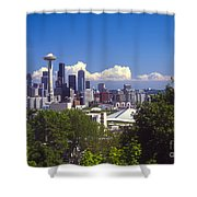 Seattle City View Shower Curtain