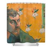 Self Portrait With Portrait Of Bernard Shower Curtain