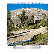 Sentinel Dome From Sentinel Dome Trail In Yosemite Np-ca  Shower Curtain