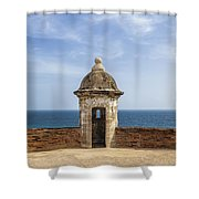 Sentry Box In Old San Juan Puerto Rico Shower Curtain