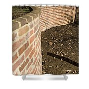 Serpentine Wall University Of Virginia Shower Curtain