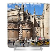 Seville Cathedral In The Old Town Shower Curtain
