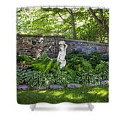 Shady Perennial Garden Shower Curtain