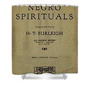 Sheet Music Spiritual Shower Curtain