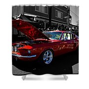 Shelby Gt 500 Mustang Shower Curtain