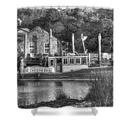 Shem Creek In Black And White Shower Curtain