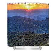 Shenandoah Sunset Shower Curtain