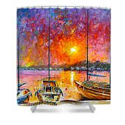Ships Of Freedom Shower Curtain