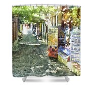 Shopping Street Shower Curtain