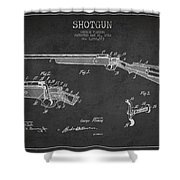 Shotgun Patent Drawing From 1918 Shower Curtain