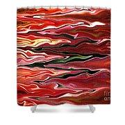 Showpiece Waves Shower Curtain