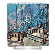 Shrimpboats Shower Curtain