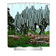 Sibelius Memorial Park In Helsinki-finland Shower Curtain