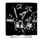 Sid Wilson's Tools For Building Stagecoaches Pick 'em Up Ranch Tombstone Arizona 1979 Shower Curtain