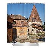 Sighisoara Transylvania Medieval Historic Town In Romania Europe Shower Curtain