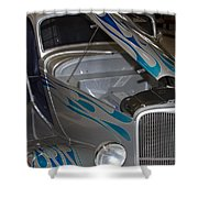 Silver Flame Shower Curtain