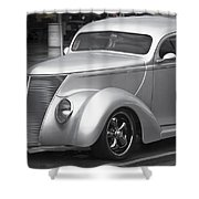Silver Ford Shower Curtain