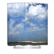 Silver Lake Sand Dunes Shower Curtain