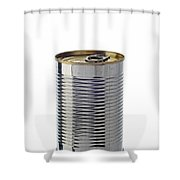 Simple Tin Can Shower Curtain