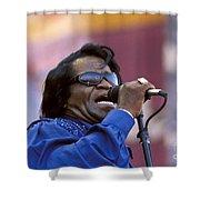 Singer James Brown Shower Curtain
