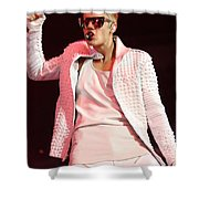 Singer Justin Bieber Shower Curtain
