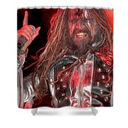 Singer Rob Zombie Shower Curtain