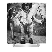Sir Genille Cave Brown Cave (1869-1929) Shower Curtain