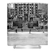 Skating At Rockefeller Plaza Shower Curtain