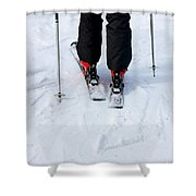 Skier Shower Curtain